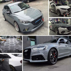 Glossy gray cement adhesive film for car wrapping and tuning