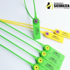 Sigilli di sicurezza in plastica flessibili con numerazione