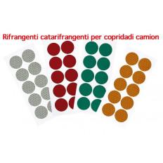 Cerchi adesivi rifrangenti 10 pezzi diametro 27mm copri bulloni
