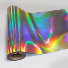 Adhesive film holographic effect silver plated cut to the 100cm plotter