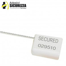 Security seals with 1.8mm steel wire with serial numbering