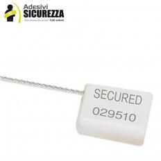 Sicherheitsplomben mit 1,8 mm Stahldraht mit serieller Nummerierung