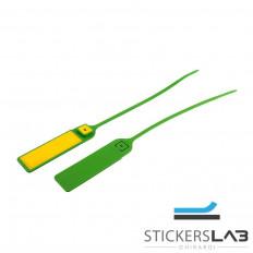 Sellos de seguridad antiintrusión en plástico con banda ajustable con numeración de serie