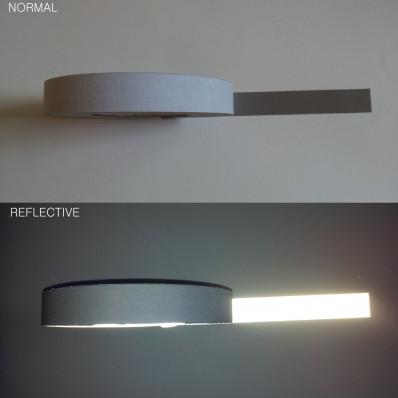 Fita refletiva prateado termo colante (com ferro de engomar) - 10/25/50mm x 3MT
