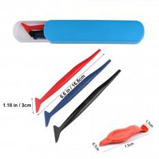 Kit con micro spatole applicazione pellicole car wrapping per fessure e zone difficili
