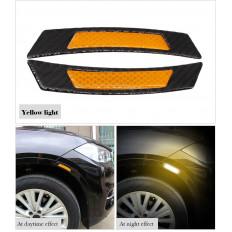 4 pegatinas de protección resistente a los arañazos hechos de fibra de carbono para alféizar de puerta de coche