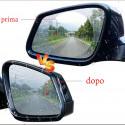 Coppia adesivi con nanotecnologia per specchietti antinebbia antipioggia auto moto