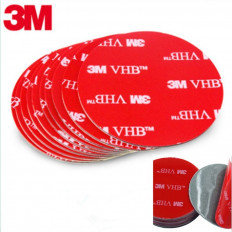 3M™ 5925 VHB Double Sided Acrylic Foam Mounting Square Decals - 5 pieces
