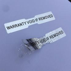 Etiquettes holographiques à témoin d'intégrité avec cachet de garantie - 70 pièces