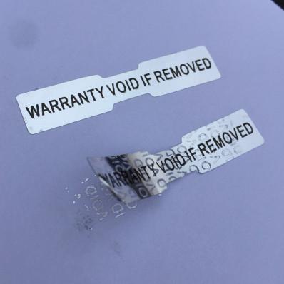 """84 Etichette adesive sigilli ologrammi di garanzia e sicurezza """"Warranty void if removed"""""""