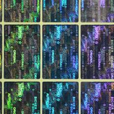 70 Etichette adesive sigilli ologrammi di garanzia e sicurezza con scritte