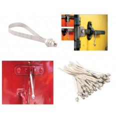 Vedações de segurança de cabo de aço de 1,5 mm com numeração serial e corpo em ABS