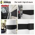 Adhesive bumper strips for car garage shock protection
