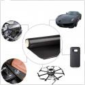 Tessuto in vera fibra di carbonio 200 g/m² 3k 2/2 PLAIN carbon look