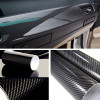 5D High Gloss Black Carbon Fiber Car Wrap decorative film Shop