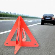 Triangolo avvertimento in plastica con catadiottri a treppiedi piegato