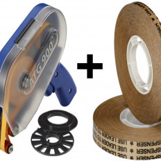 Biadesivo transfer tapes reverse (ATG system) ad alto spessore 0,13mm + dispenser ATG900