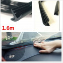 Guarnizione in gomma nera insonorizzante antipolvere per cruscotto parabrezza auto 1.6M + spatola