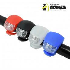 2 Lampes LED de Vélo en silicone impermeable