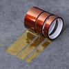 Nastro adesivo KAPTON tape in polyamide alte temperature fino a 300° protezione termica BGA da 33 Metri