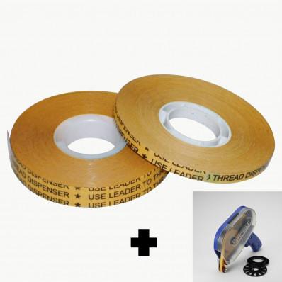Biadesivo transfer tapes reverse (ATG system) a basso spessore 0,05mm + dispenser ATG900