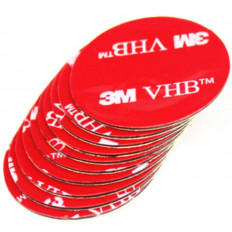 Quadrado em adesivo Dupla Face 3M™5925 VHB em espuma acrilica de elevado desempenho - 5 peças