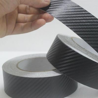 Bandes autocollantes en vinyle à effet carbone – 5 m x 25 mm
