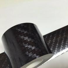 Banda adhesiva en vinilo efecto fibra de carbón – 50 mm x 5 m