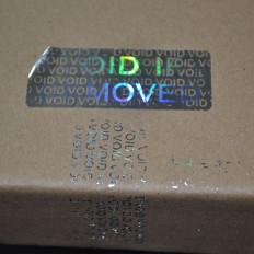 Etiquetas autocolantes holográficas com selo de garantia - 70 peças