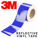 Pellicola adesiva riflettente scotchlite 3M™ serie 580 colore blu