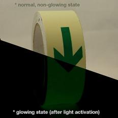 Foto-leuchtenden glühen im dunklen Band mit Pfeilen Online