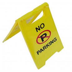 """Segnale stradale in plastica ripiegabile e portatile di vietato parcheggio con scritta """"NO PARKING"""""""