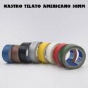 Nastro Americano telato plastificato per riparazioni 38mm x 25 Metri in 8 colori