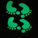 Pies adhesivos fosforescentes luces brillantes en las oscuras 4 piezas 4, 5 cm X 7 cm MATERIAL EXTRA fuerte