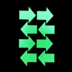 Frecce adesivo fosforescente luminescente si illumina al buio 8 pezzi 4,5 x 4,5cm MATERIALE EXTRA FORTE