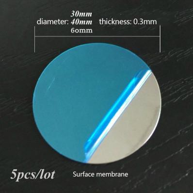 5 Piastre a disco metallico con biadesivo 3M™magnetico per cellulare auto
