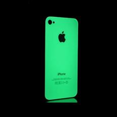 Pele brilho fluorescente adesivo capa para Iphone 4,4S,5 que brilha no escuro 3M ™ marca