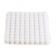 1000 tondini Velcro adesivo bianco (500 coppie) diametro 10 mm, 1 cm, lato con gancetti e lato con asole da attaccare