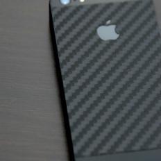 Coque autocollante en carbone noir pour iPhone 5/5S/SE de la