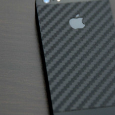 Skin cover adesivo iPhone 5 e 5S in carbonio nero 3M™ DI-NOC™ originale MATERIALE TOP