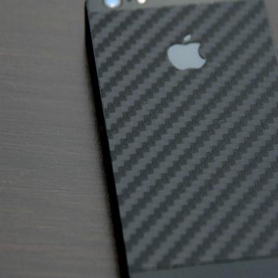 Piel etiqueta funda iPhone 5 negro de carbono 3 m ™ DI-NOC ™ original tapa de MATERIAL