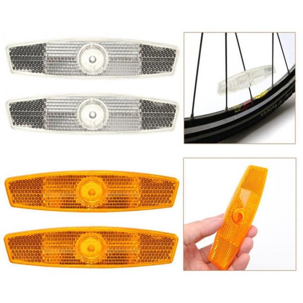24 Piezas Reflector de radios de Bicicleta Clip Reflectante de Bicicleta Ruedas de radios para Bicicleta Luz de Pegatina de Rueda de Bicicleta