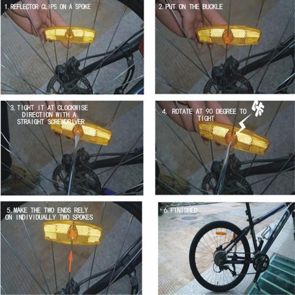 Reflektierende Fahrrad Aufkleber Sicherheit Motorrad Auto Reflektor Klebeband DE