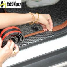 Protetor para-choques de carro em borracha dura (efeito fibra de carbônio) - 2,5mt