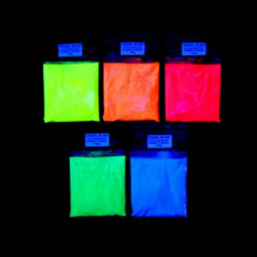 Coloured based Glow in the dark powders in five colours Shop