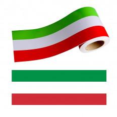 Bande en vinyle drapeau italien pour voiture, scooter et moto