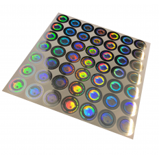 Etiquetas autocolantes holográficas com selo de garantia - 100