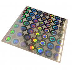 Etiquettes holographiques à témoin d'intégrité avec cachet de