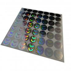 Sellos holográficos con marca de conformidad y precinto de