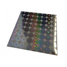 64 sellos hologrammed de garantía y seguridad de 19 mm marcados